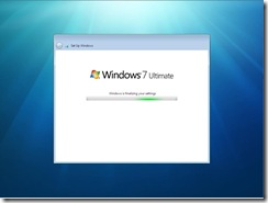 Finalize Setting - Windows 7