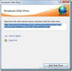 Broadcast - Published URL